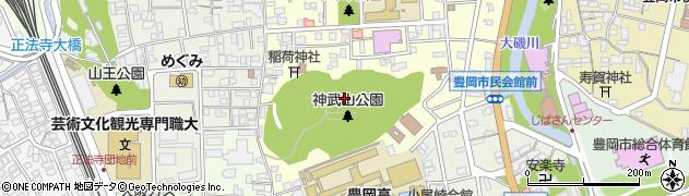 兵庫県豊岡市京町周辺の地図