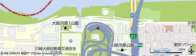 神奈川県川崎市川崎区大師河原周辺の地図
