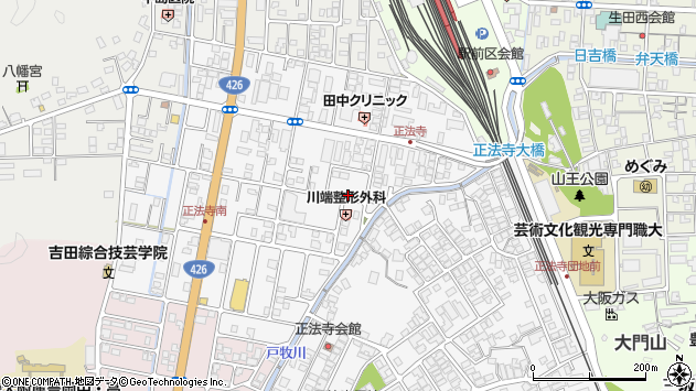 〒668-0063 兵庫県豊岡市正法寺の地図