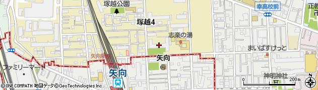 日商岩井川崎塚越マンション周辺の地図