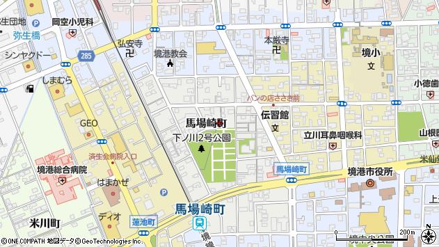 〒684-0021 鳥取県境港市馬場崎町の地図