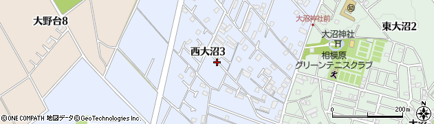 神奈川県相模原市南区西大沼周辺の地図