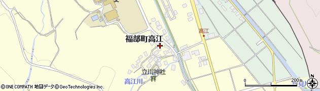 鳥取県鳥取市福部町高江周辺の地図