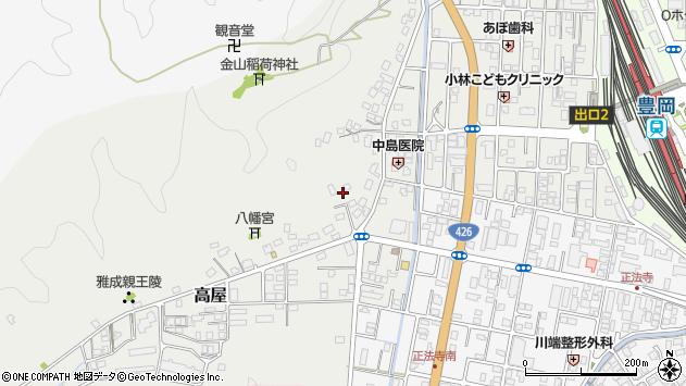 〒668-0064 兵庫県豊岡市高屋の地図