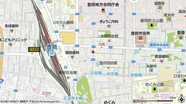 〒668-0032 兵庫県豊岡市千代田町の地図