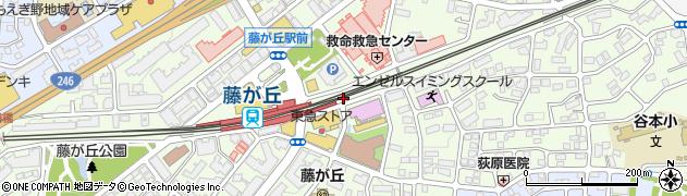 神奈川県横浜市青葉区藤が丘周辺の地図