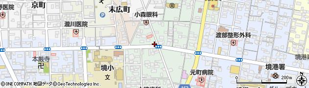 鳥取県境港市元町周辺の地図