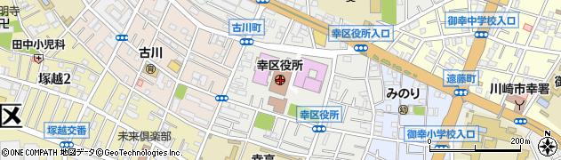 神奈川県川崎市幸区周辺の地図