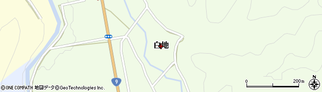 鳥取県岩美町(岩美郡)白地周辺の地図