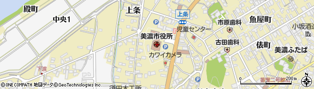 岐阜県美濃市周辺の地図