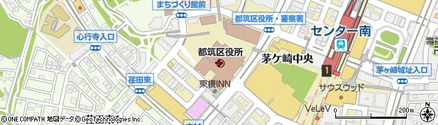 神奈川県横浜市都筑区周辺の地図