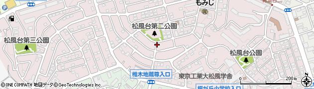 神奈川県横浜市青葉区松風台周辺の地図