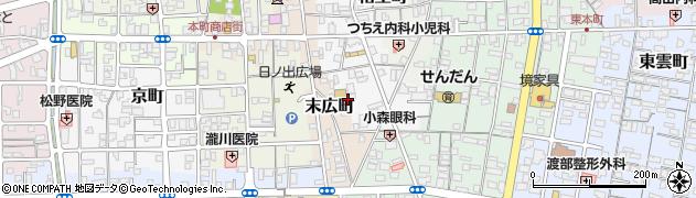 鳥取県境港市中町周辺の地図