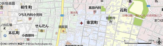 鳥取県境港市東雲町周辺の地図