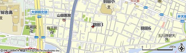東京都大田区羽田周辺の地図