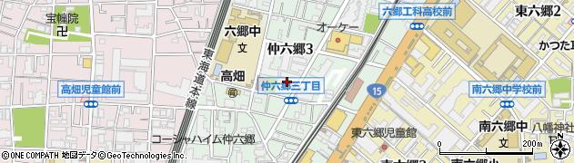 東京都大田区仲六郷周辺の地図