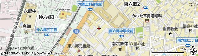 東京都大田区東六郷周辺の地図