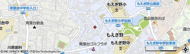 神奈川県横浜市青葉区もえぎ野周辺の地図