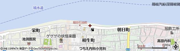 鳥取県境港市相生町周辺の地図