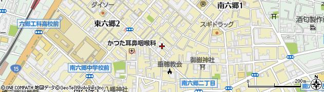東京都大田区南六郷周辺の地図