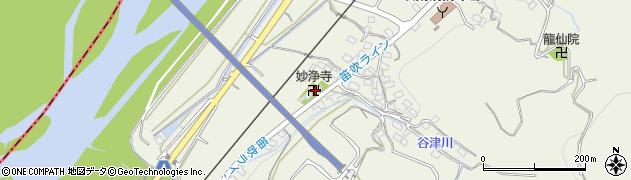 妙浄寺周辺の地図