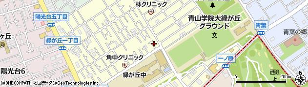 神奈川県相模原市中央区緑が丘周辺の地図