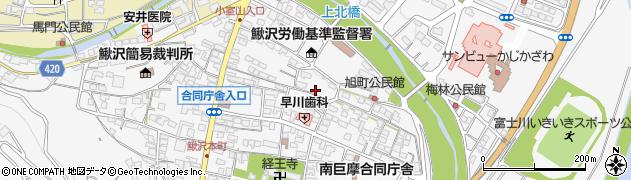山梨県南巨摩郡富士川町鰍沢富士見町周辺の地図