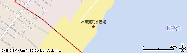 本須賀海水浴場周辺の地図