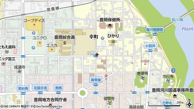 〒668-0025 兵庫県豊岡市幸町の地図