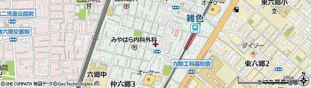銀のさら 雑色店周辺の地図