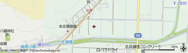 兵庫県豊岡市庄境周辺の地図