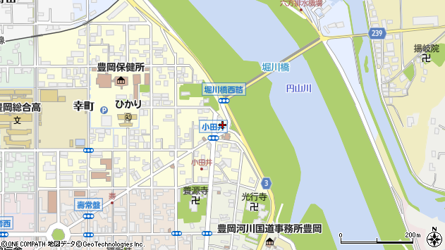 〒668-0022 兵庫県豊岡市小田井町の地図