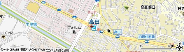 神奈川県横浜市港北区周辺の地図
