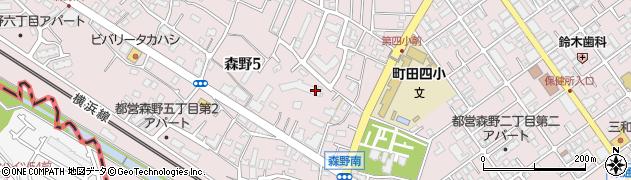 東京都町田市森野周辺の地図