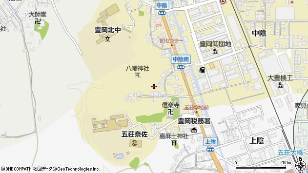 〒668-0013 兵庫県豊岡市中陰の地図