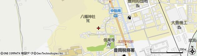 兵庫県豊岡市中陰周辺の地図