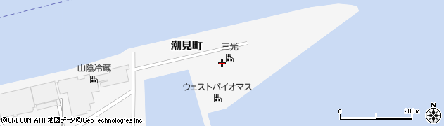 鳥取県境港市潮見町周辺の地図