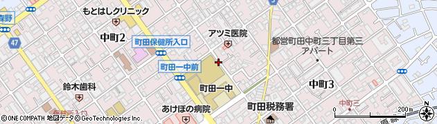 東京都町田市中町周辺の地図