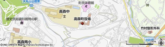 長野県高森町(下伊那郡)周辺の地図