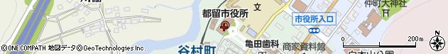 山梨県都留市周辺の地図