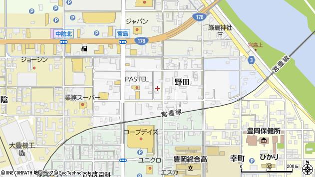 〒668-0014 兵庫県豊岡市野田の地図
