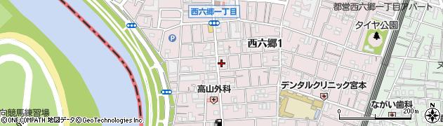 東京都大田区西六郷周辺の地図