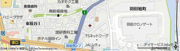 東京都大田区羽田旭町周辺の地図