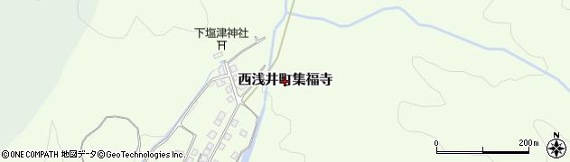 滋賀県長浜市西浅井町集福寺周辺の地図