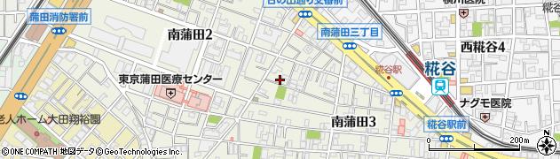 東京都大田区南蒲田周辺の地図