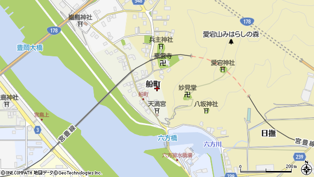 〒668-0805 兵庫県豊岡市船町の地図