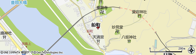 兵庫県豊岡市船町周辺の地図