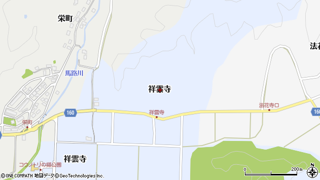 〒668-0814 兵庫県豊岡市祥雲寺の地図