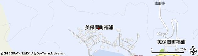 島根県松江市美保関町福浦周辺の地図