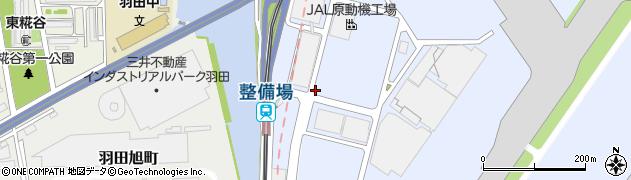 東京都大田区羽田空港周辺の地図